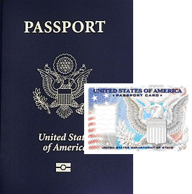 Passport book and card